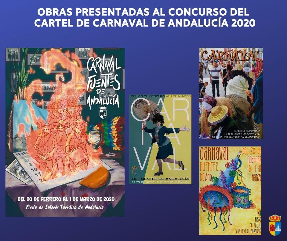 Obras presentadas al concurso del cartel del Carnaval 2020