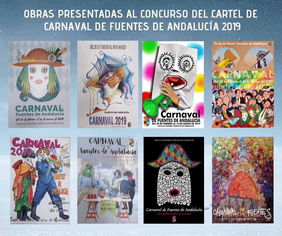 Obras presentadas al concurso del cartel del Carnaval 2019