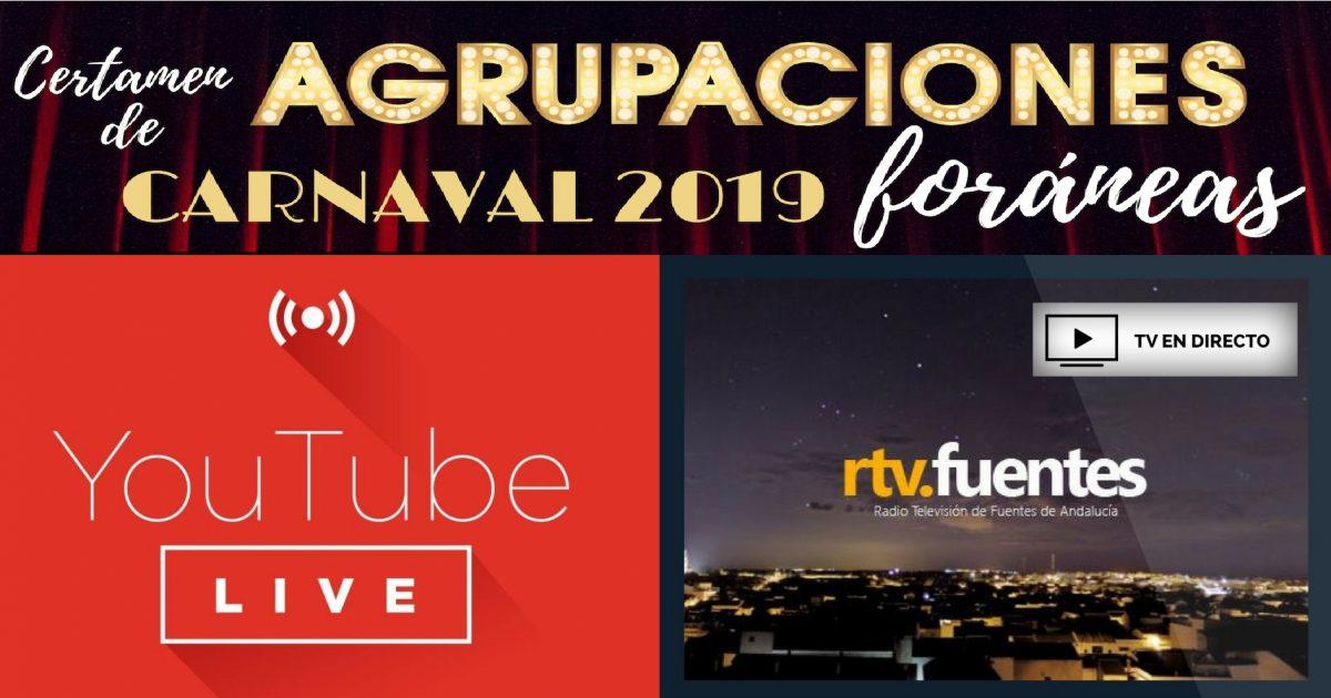 Hoy (08/03/19), EN DIRECTO (TV e Internet): Certamen de Agrupaciones Foráneas