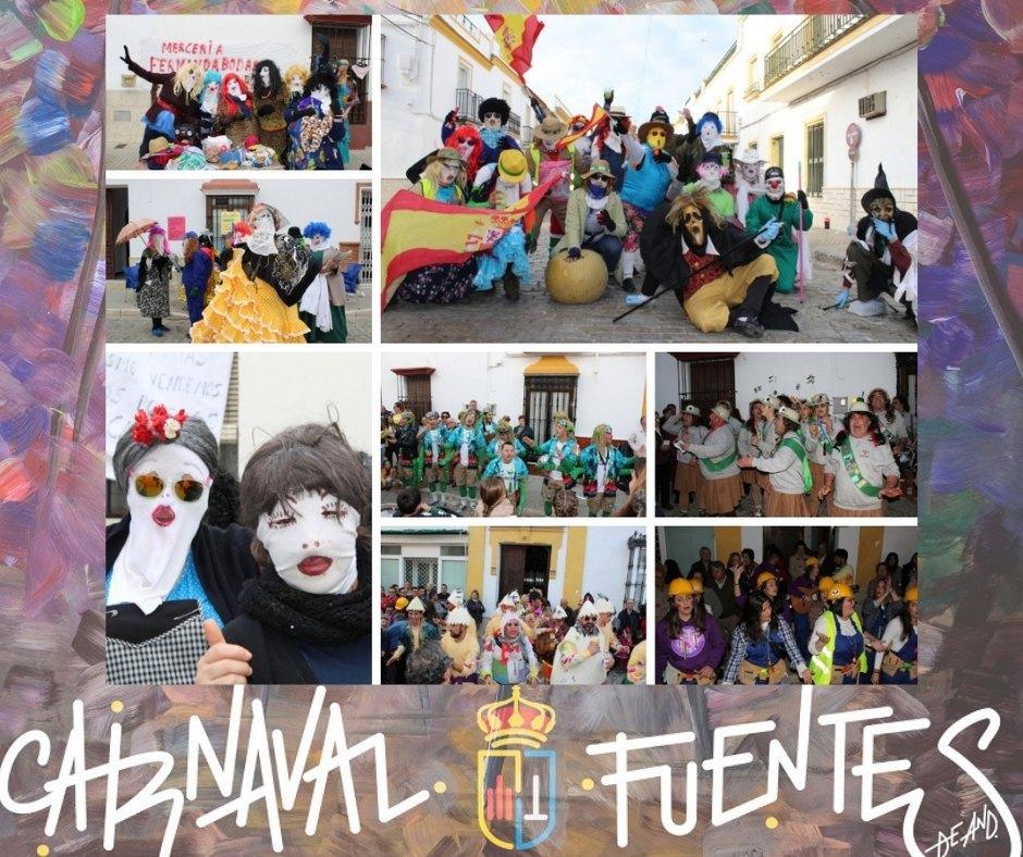 (Galería gráfica) 'Lunes Mercadillo de Máscaras' #CarnavalFuentes2019