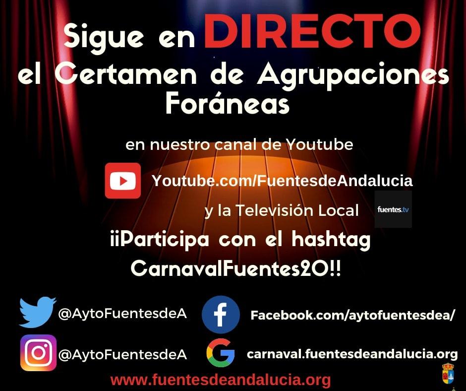 EN DIRECTO (TV y YOUTUBE) EL CERTAMEN DE AGRUPACIONES FORÁNEAS